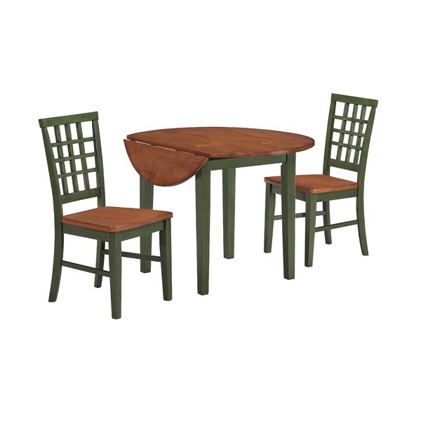 Weisgerber 3 Piece Drop Leaf Dining Set by Darby Home Co