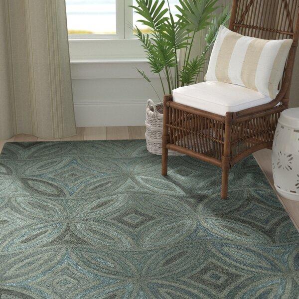 Quinn Green/Slate Gray Rug by Longshore Tides