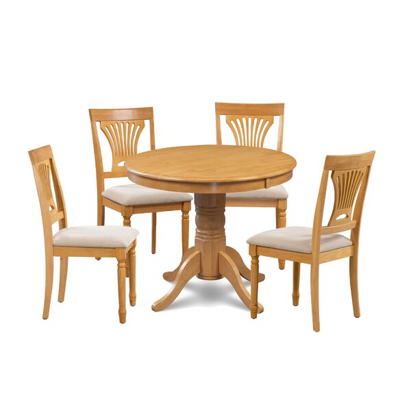 Kelston Mills 5 Piece Solid Wood Dining Set by Alcott Hill
