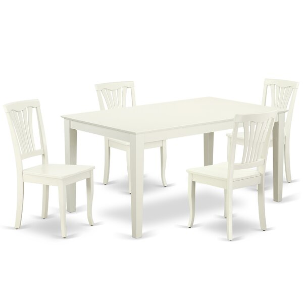 Lafave 5 Piece Solid Wood Dining Set By August Grove