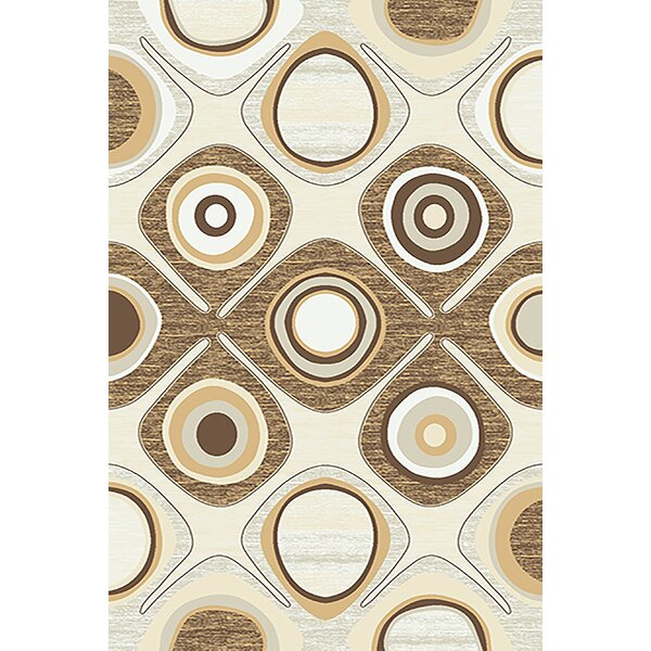 Mccampbell 3D Brown/Beige Area Rug by Ivy Bronx