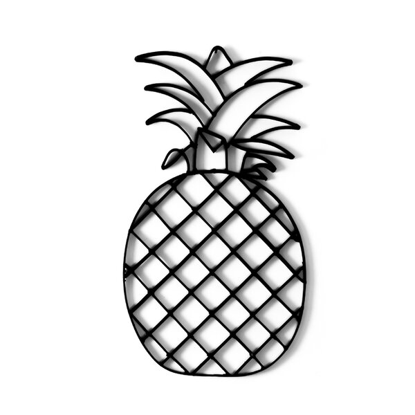 Pineapple Sculpture Metal Wall Decor by Bay Isle Home