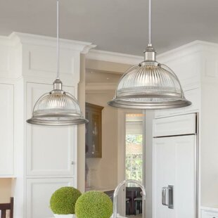Top Reviews Delway 1-Light Inverted Pendant By Breakwater Bay