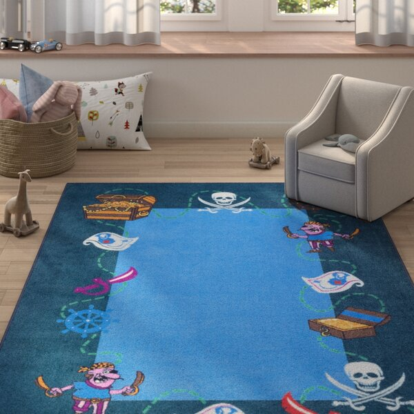 Hittle Blue Area Rug by Zoomie Kids