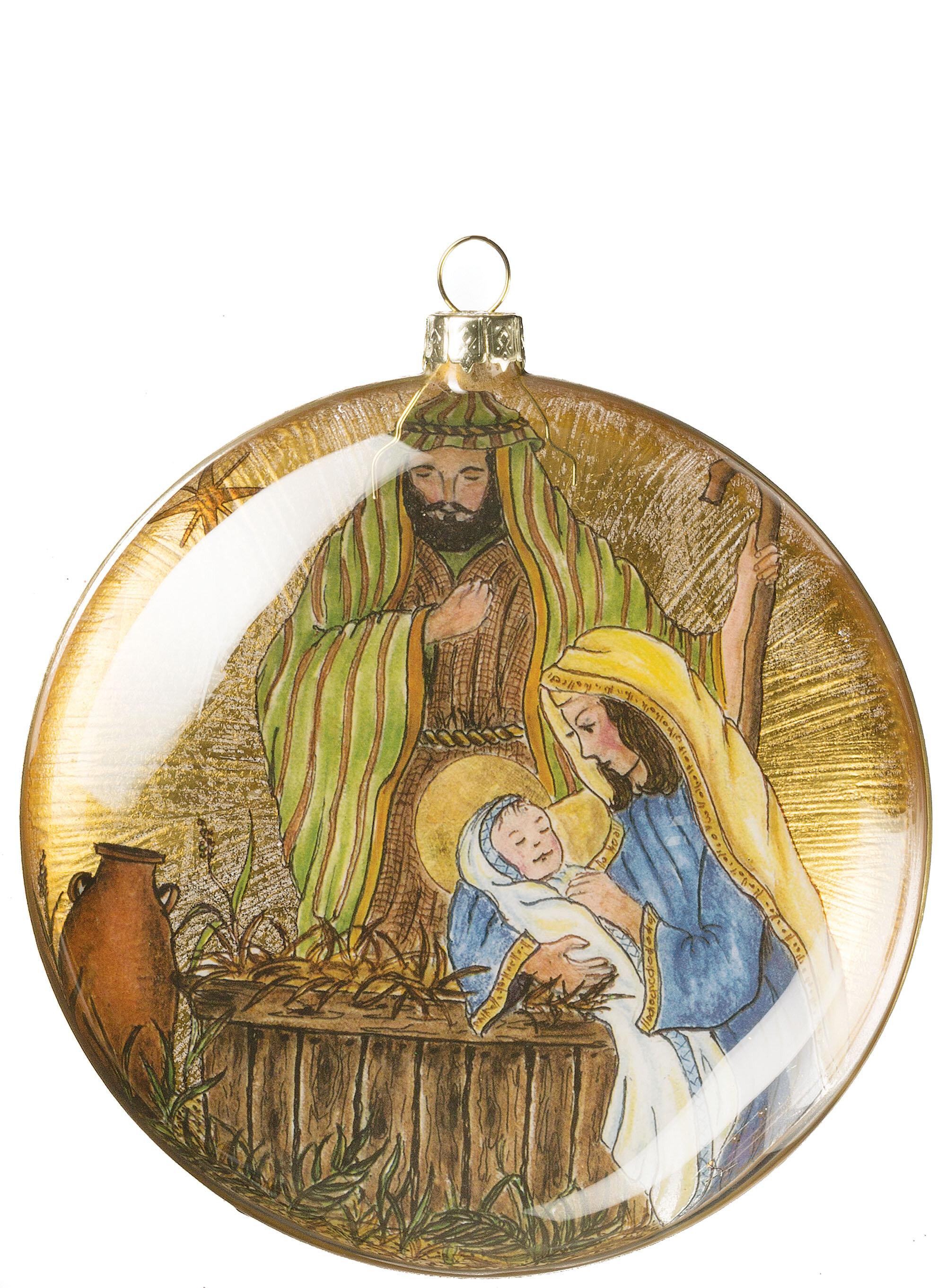 Nativity Disc Ornament
