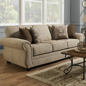 Buy luxury Darby Home Co Simmons Vicki Parchment Queen Sleeper Sofa