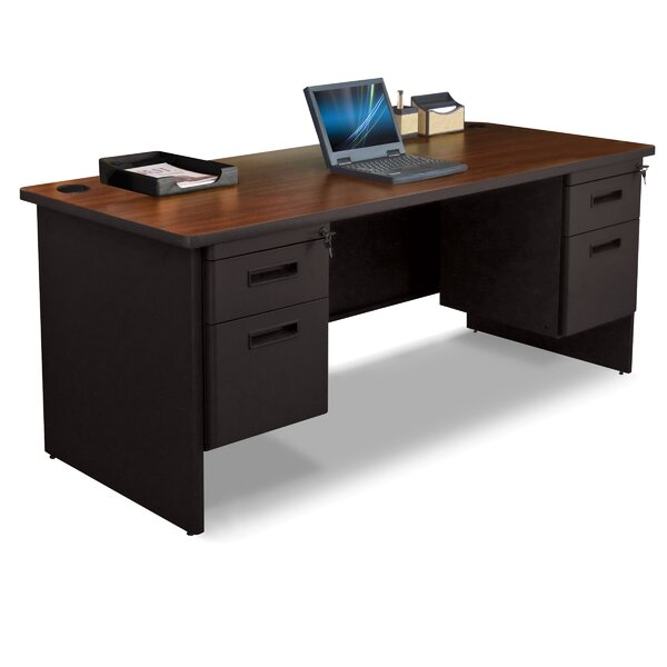 Pronto Double Pedesta Lockl Computer Desk by Marvel Office Furniture