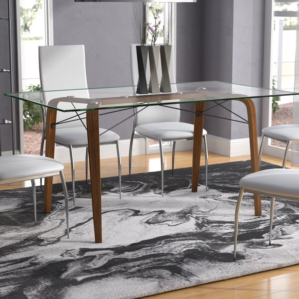 Wexford Square Mid-Century Modern Dining Table by Langley Street