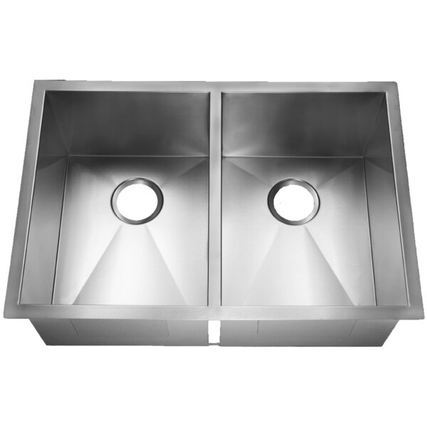 Fairfield Stainless Steel 29 L x 20 W Double Basin Farmhouse Kitchen Sink
