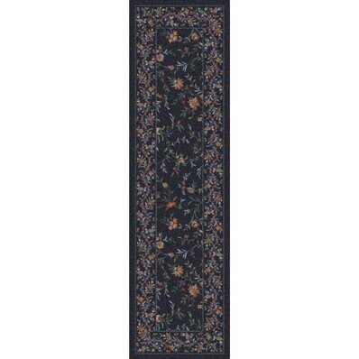 Pastiche Hampshire Floral Ebony Runner by Milliken