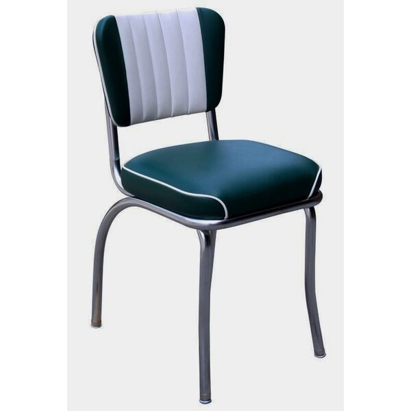 Retro Home Side Chair with Two Toned Channel Back by Richardson Seating