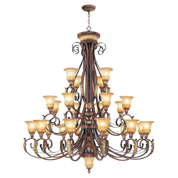 Scottdale 25-Light Shaded Tiered Chandelier by Astoria Grand Astoria Grand