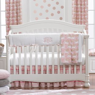 Cetus Unicorn Bumperless 4 Piece Crib Bedding Set