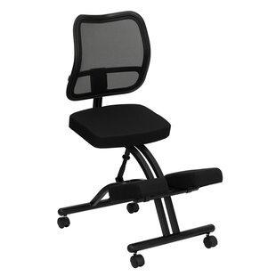 Mid-Back Mesh Kneeling Chair with Dual Wheel