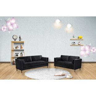 Holiman 2 Piece Standard Living Room Set by Everly Quinn