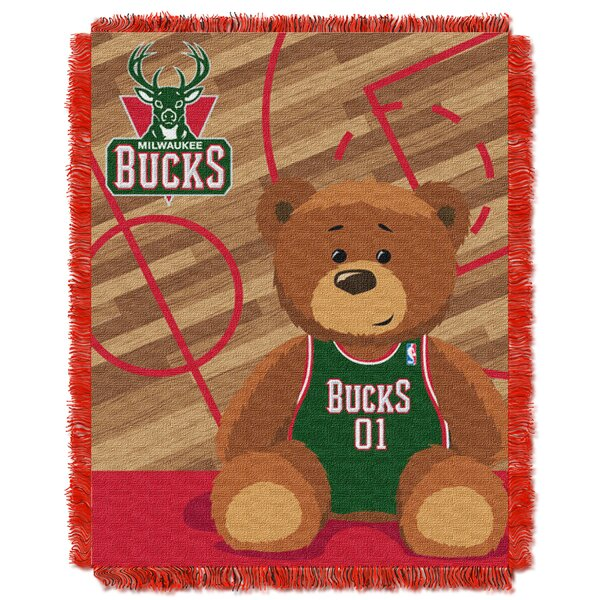 NBA Bucks Half Court Baby Throw by Northwest Co.