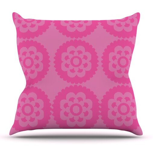 Moroccan Pink by Nicole Ketchum Outdoor Throw Pillow by East Urban Home
