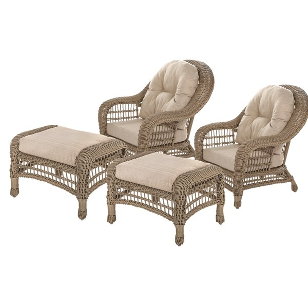 Royalton Garden Conversation 4 Piece Seating Group with Cushions by August Grove