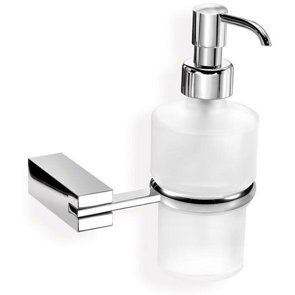 Manriquez Wall Frosted Glass Pump Soap & Lotion Dispenser by Latitude Run