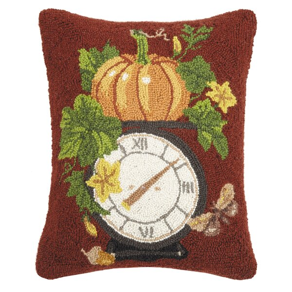 Mcfarren Pumpkin Scale Wool Throw Pillow by The Holiday Aisle