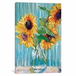 Sunflowers II Painting Print on Wrapped Canvas by August Grove