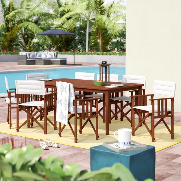 Sanor Extendable Patio 9 Piece Dining Set by Beachcrest Home