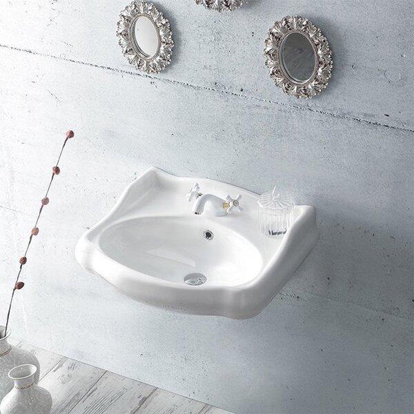 1837 Ceramic 24 Wall Mount Bathroom Sink with Overflow by CeraStyle by Nameeks