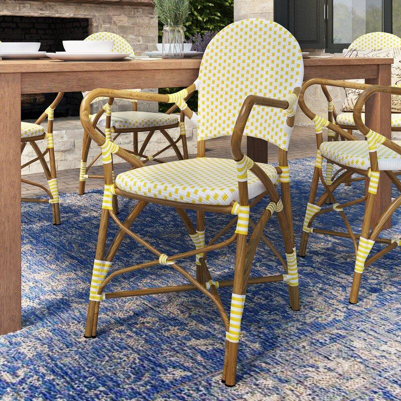 Mistana Rahul Stacking Patio Dining Chair Reviews Wayfair