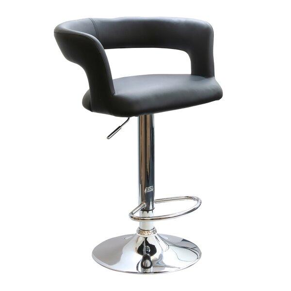 Thy Adjustable Height Swivel Bar Stool by Ebern Designs