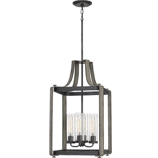 Sasser 4 - Light Lantern Rectangle Chandelier By Gracie Oaks