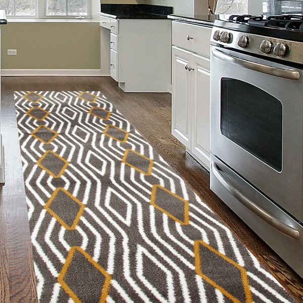 Penny Yellow/Gray Area Rug by Zipcode Design