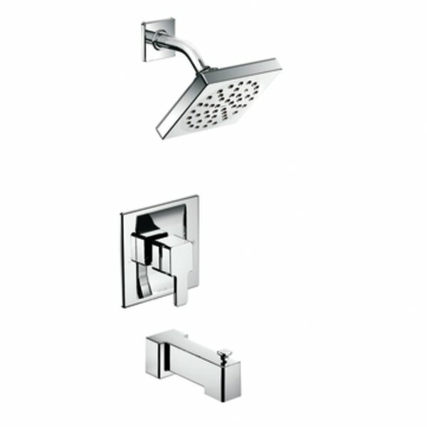 90 Degree Dual Function Tub and Shower Faucet with Valve and Moentrol by Moen