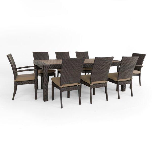 Northridge 9 Piece Dining Set with Sunbrella Cushions by Three Posts