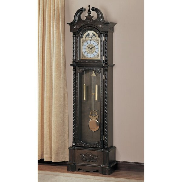 Aesthetically Charmed Wooden 81.5 Grandfather Clock by Astoria Grand