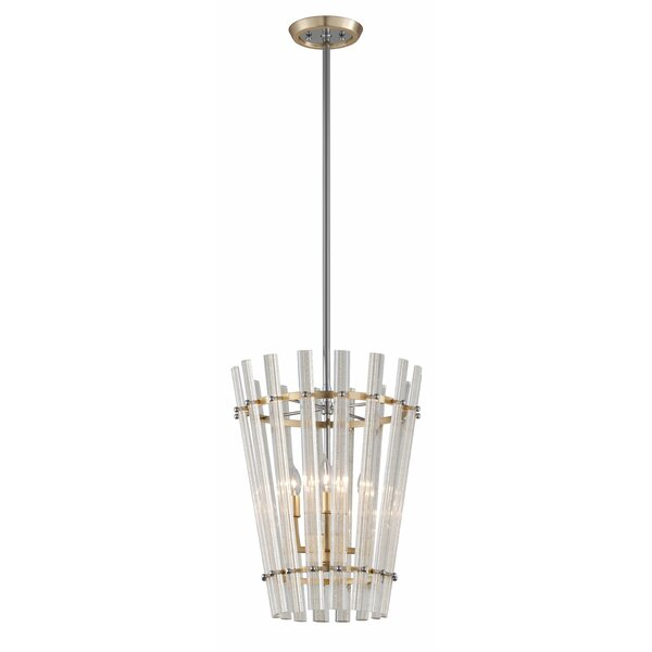 Sauterne 4-Light Unique / Statement Geometric Chandelier by Corbett Lighting Corbett Lighting