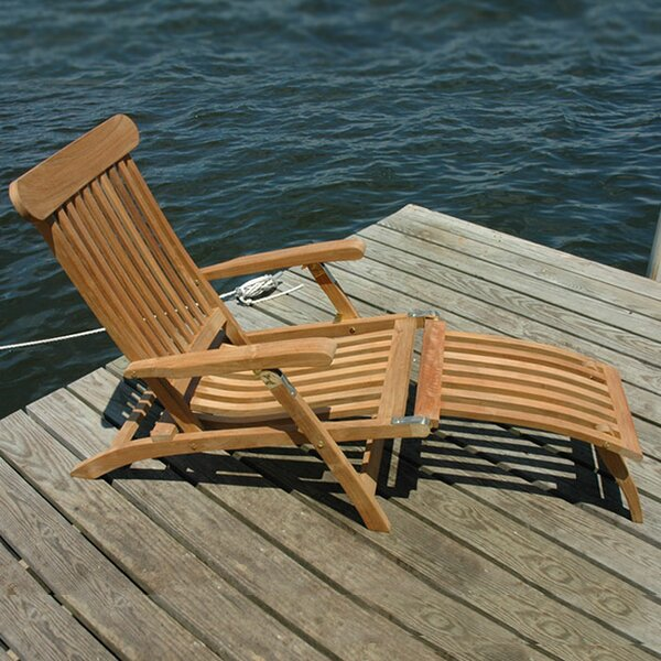 Steamer Teak Indoor/Outdoor Lounge Chair by Rosecliff Heights Rosecliff Heights