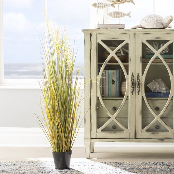 Artificial Flowering Grass in Pot by Highland Dunes