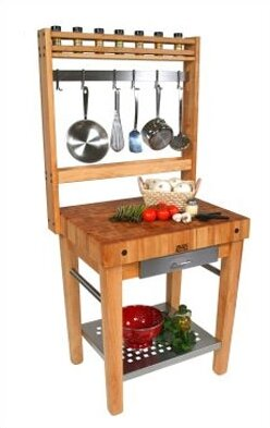 Cucina Americana Prep Table with Butcher Block Top by John Boos