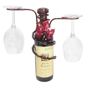 Grapevine 1 Bottle Tabletop Wine Rack by Metrotex Designs