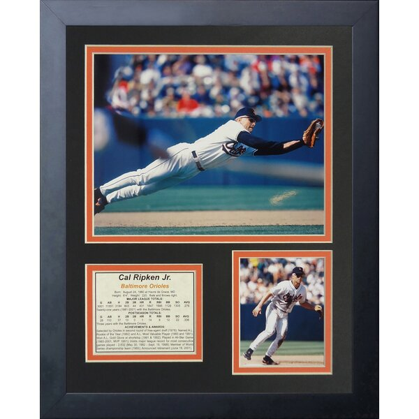 Cal Ripken - Fielding Framed Memorabilia by Legends Never Die