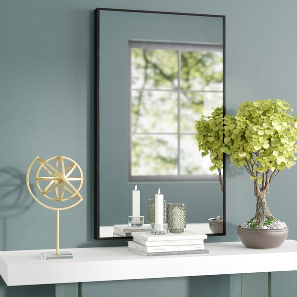 Ledger Wood Wall Mirror by Wrought Studio