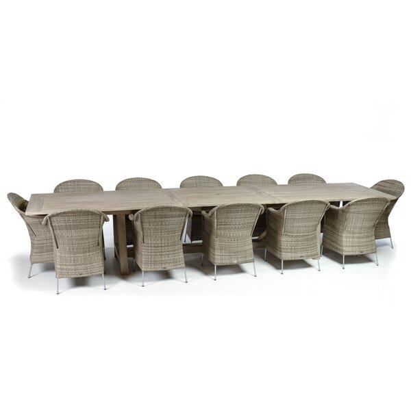 CO9 Design Lakewood 9 Piece Extension Trestle Table Dining Set | Wayfair