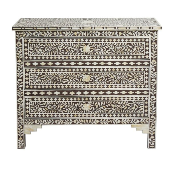 Gurule 3 Drawers Chest by Bungalow Rose