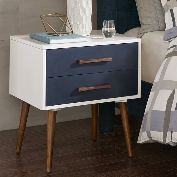 Branden Storage 2 Drawer Nightstand by George Oliver
