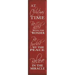 At Christmas Time Be Filled With The Wonder Textual Art Plaque by Sawdust City