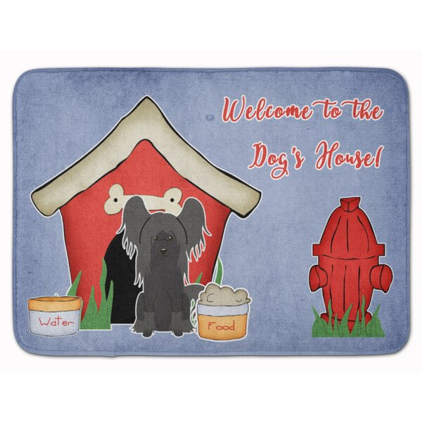 Dog House Chinese Crested Memory Foam Bath Rug by East Urban Home