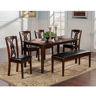 Laplant Rubberwood 5 Piece Solid Wood Dining Set By Alcott Hill
