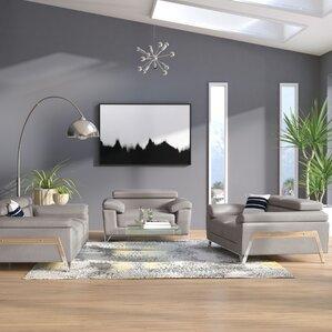 Corelle 3 Piece Leather Living Room Set Part 43