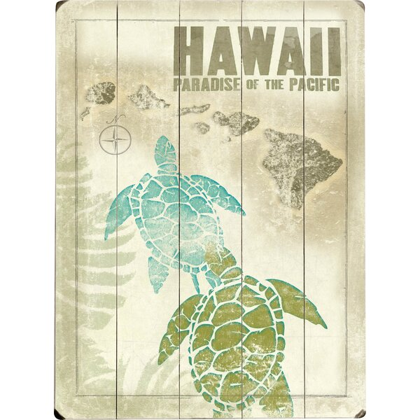 Turtle Graphic Art Print Multi-Piece Image on Wood by Artehouse LLC