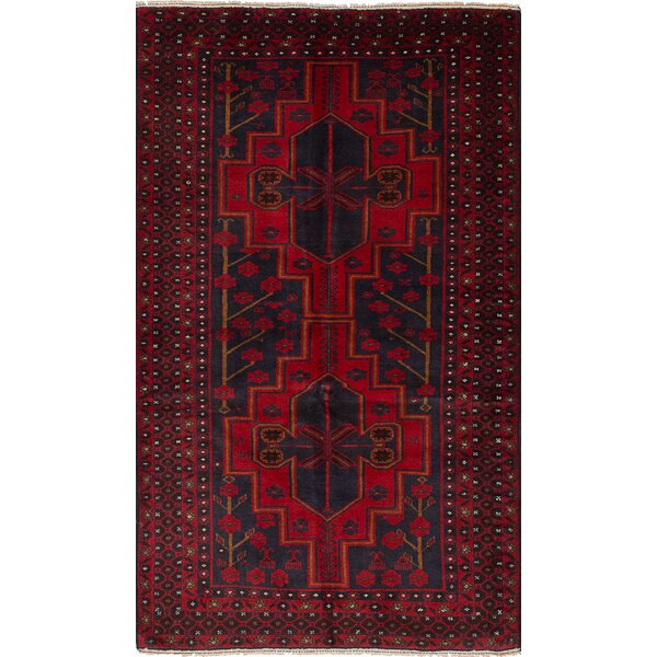 One-of-a-Kind Alaniz Hand-Knotted Wool Red Area Rug by Isabelline